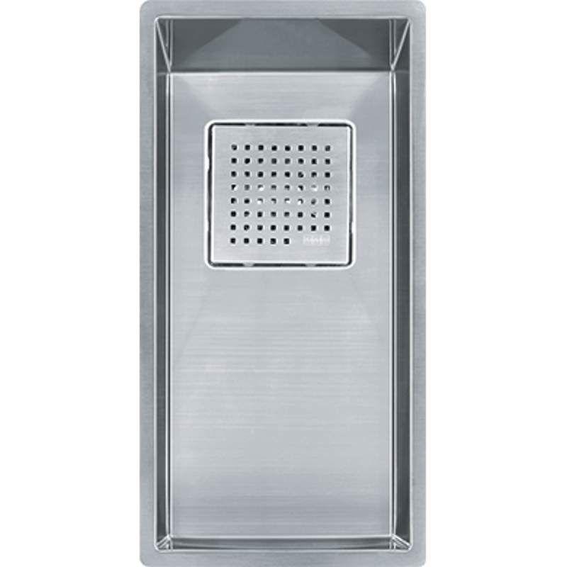 "Franke PKX1108 PEAK Sink Collection 8-1/4"" x 17-3/4"" Single Basin Undermount 16- Stainless Steel Fixture Kitchen Sink Stainless Steel"