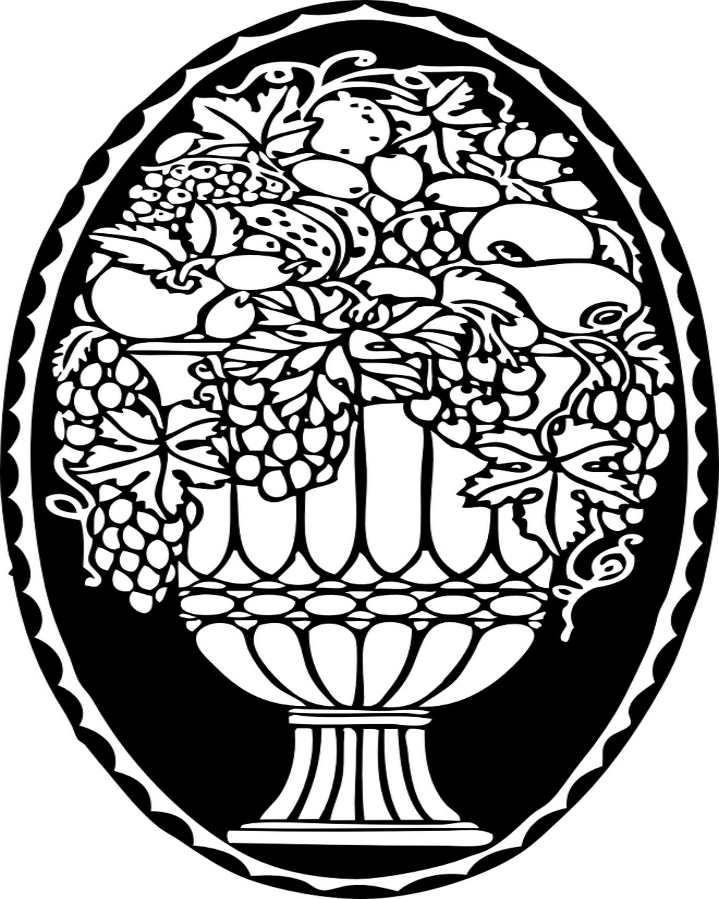 Fruit bowl coloring pictures - Free Printable Fruit Bowl Coloring Page