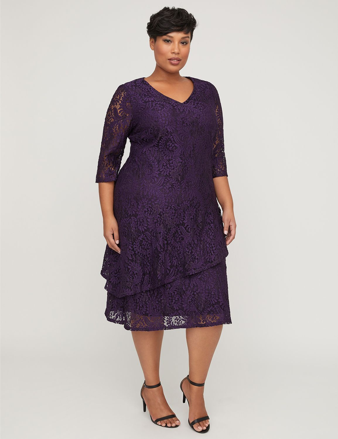 95c7a839d08 Shop for a Amethyst Lace A-Line Dress at Catherines.com. Read reviews and browse  our wide selection to match any budget or occasion.