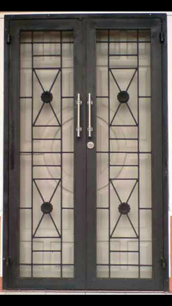 Pin Di Puertas Model teralis minimalis modern