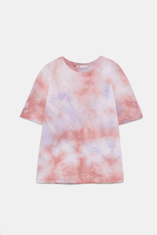 Contrast Peplum Top Tie Dye Shirts Tye Dye Shirts Tie Dye Outfits [ 1500 x 1000 Pixel ]