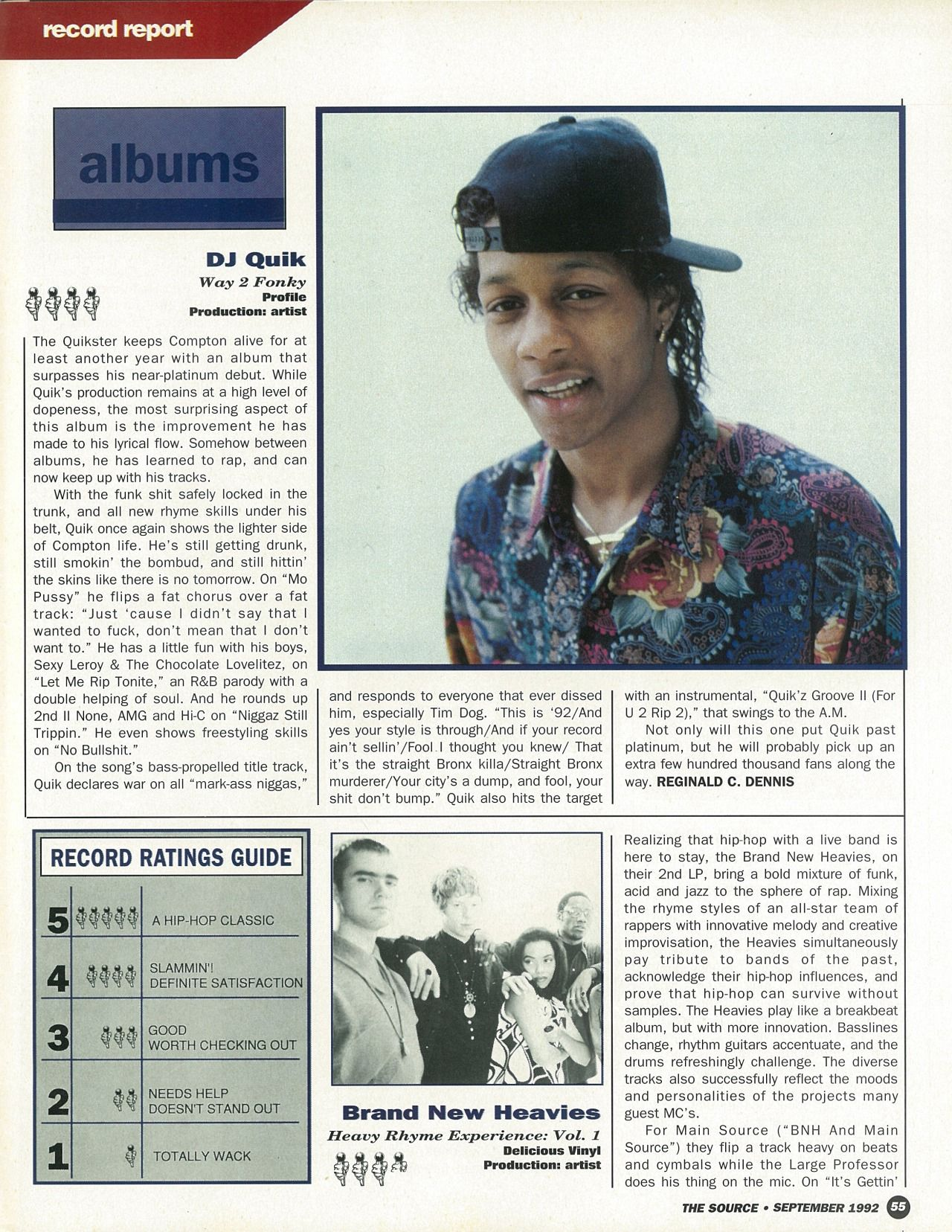 The Source Magazine, Issue #36, September 1992  Record Report