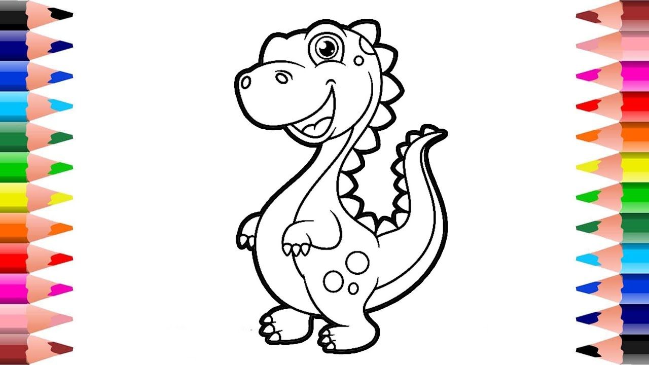 Dinosaur Coloring Pages How To Drawing Dinosaur Dinosaur Drawing Easy Dinosaur Coloring Pages Dinosaur Drawing Dinosaur Coloring