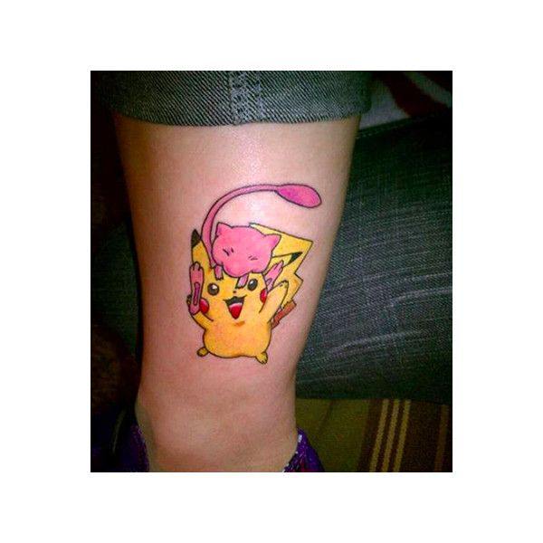Pokemon Tattoos So SUBTLEY CREEPY! It's Taturday! ($20) ❤ liked on Polyvore featuring accessories, body art, tattoos and pokemon