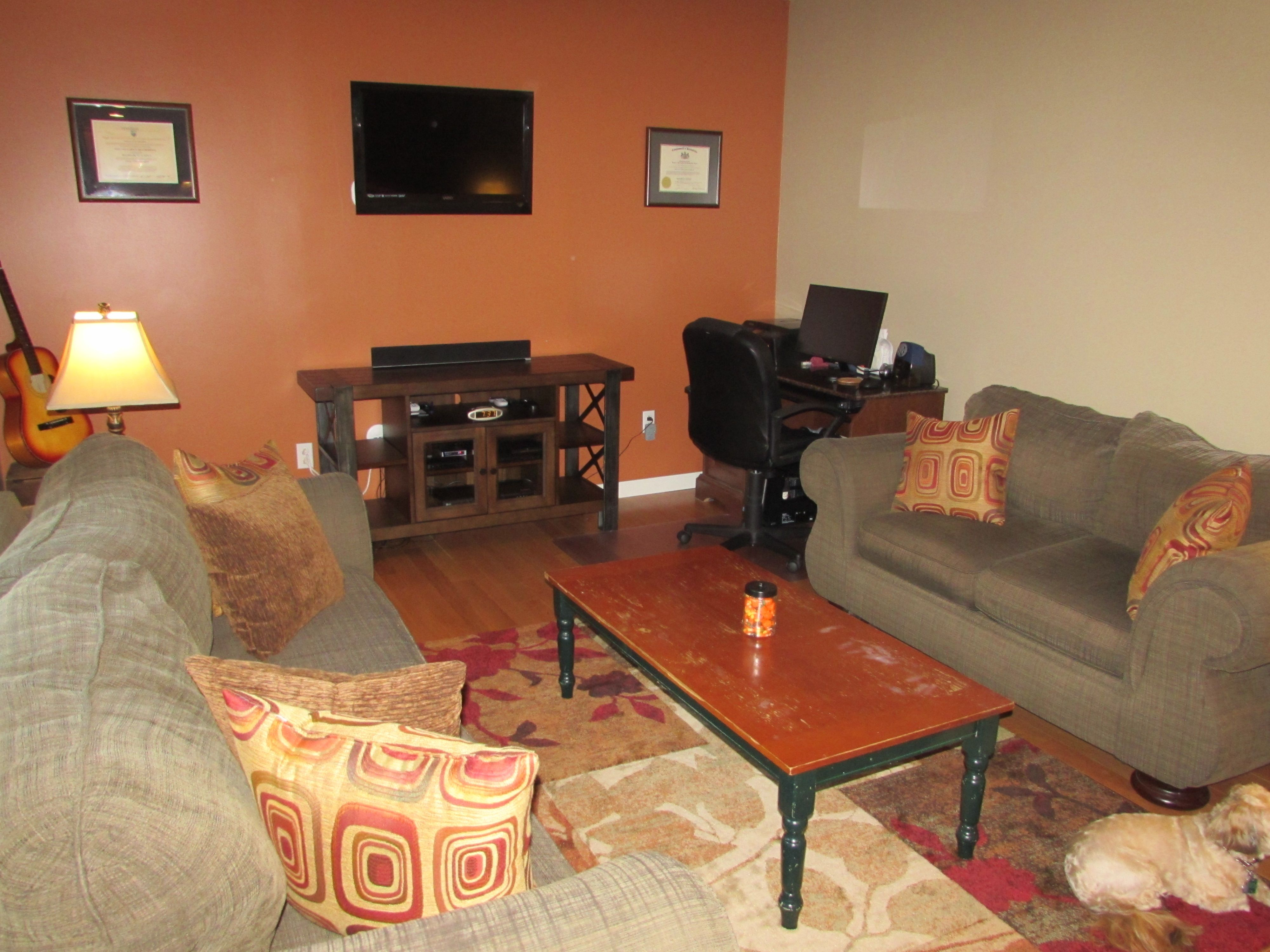 New Hardwood Floors New Paint Behr Glazed Pot On Accent