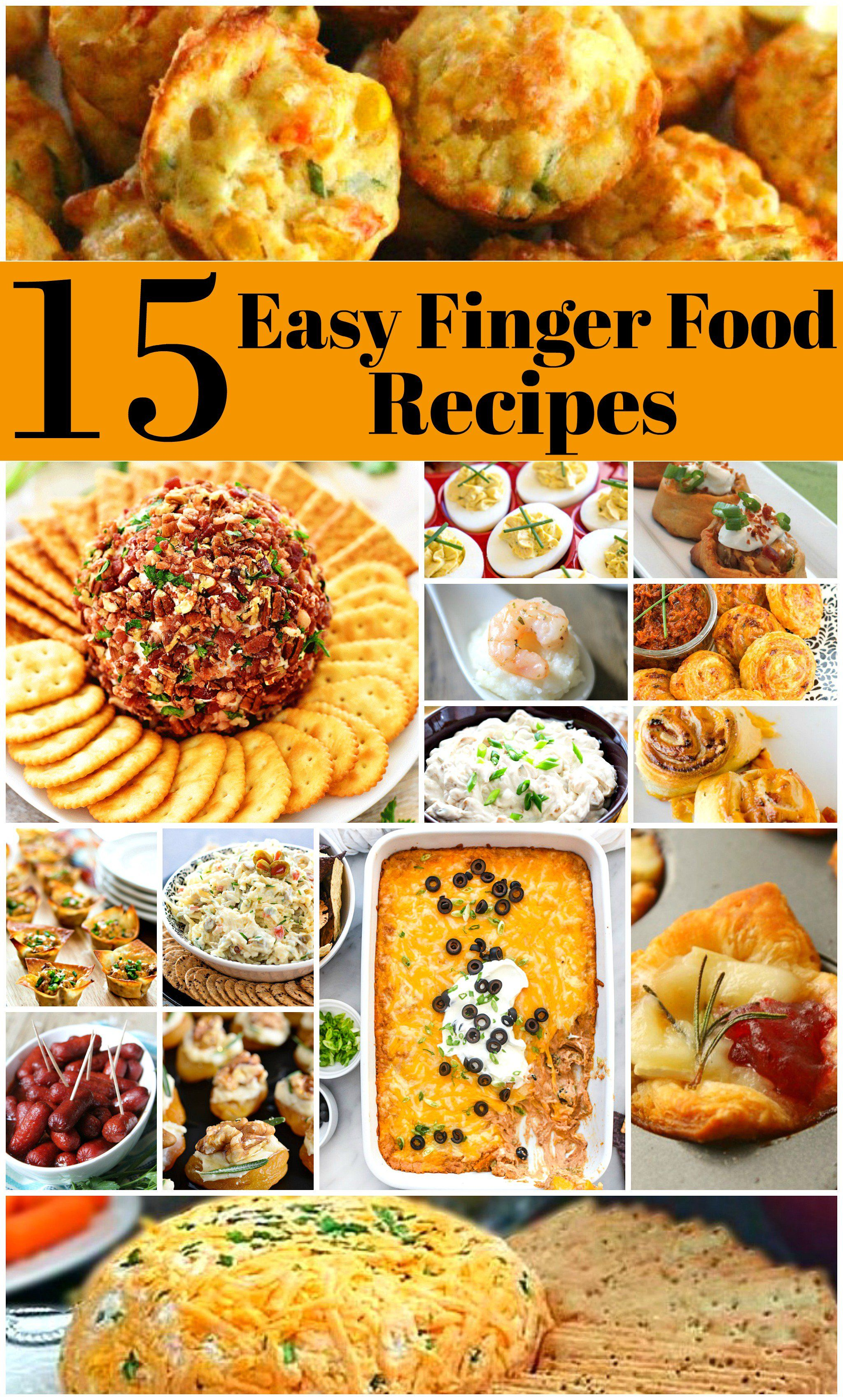 15 Easy To Make Finger Food Recipes Potluck finger foods