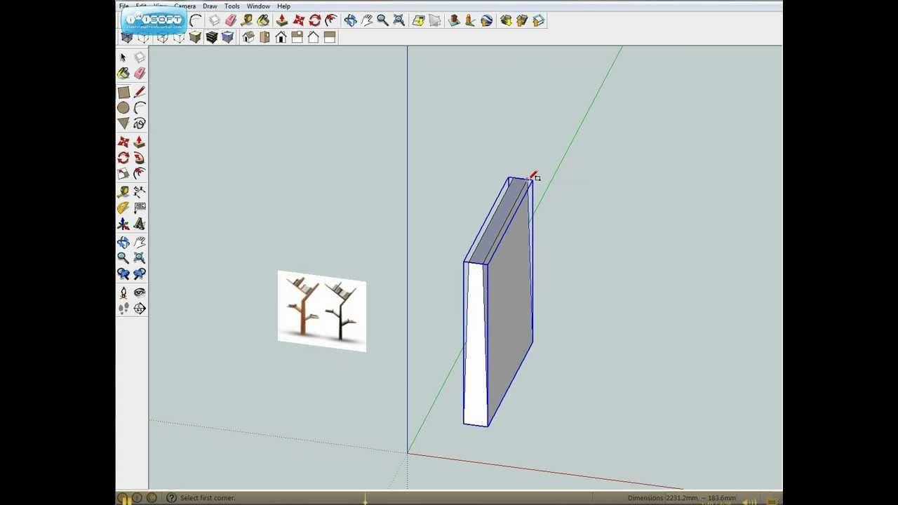 Google Sketchup Drawing Shelf Part 1 Google Sketchup Shelves