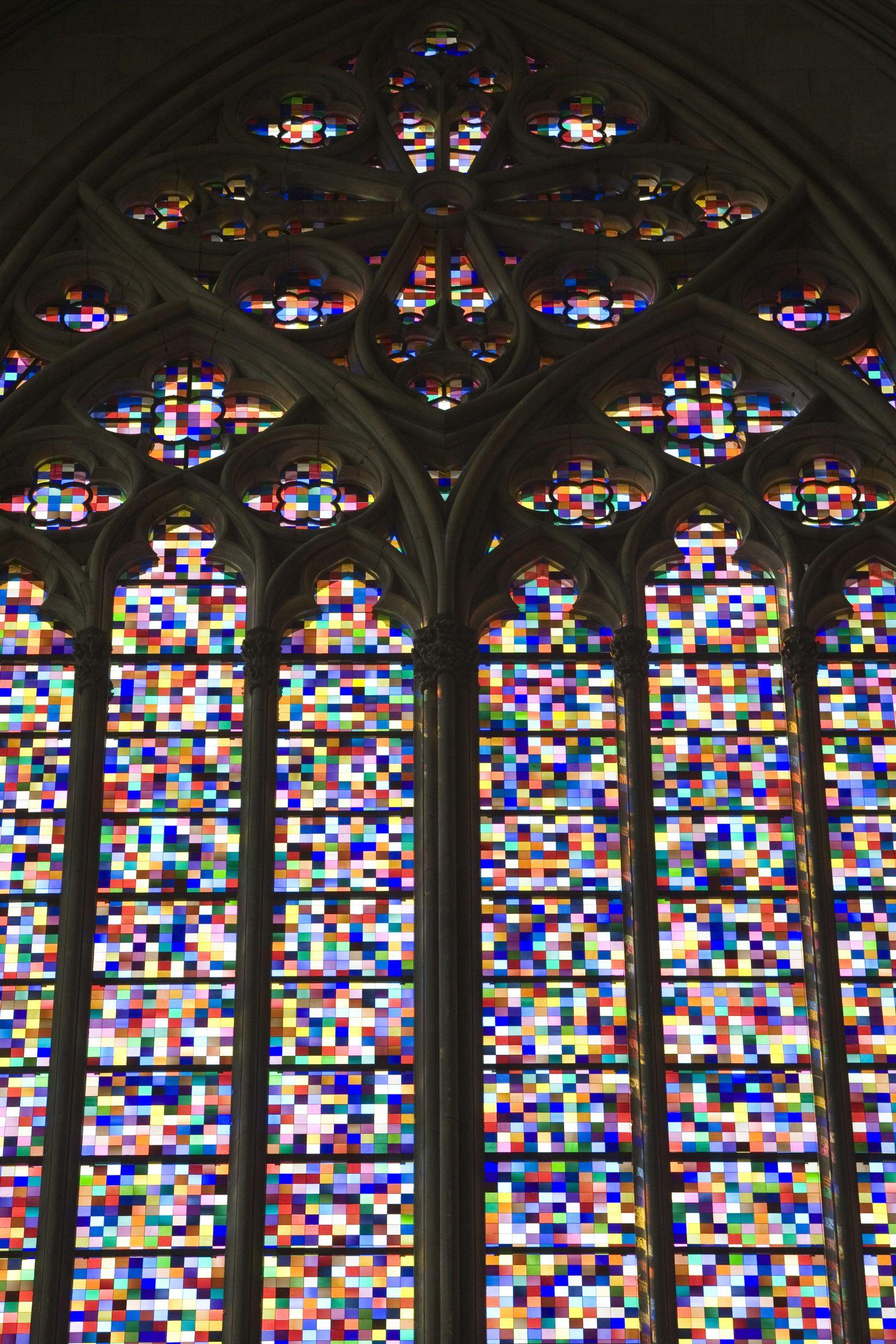 Gerhard Richter Kolner Domfenster Cologne Cathedral Window 2007 11 000 Hand Blown Glass Panels 7 Gerhard Richter Church Windows Gerhard Richter Abstract
