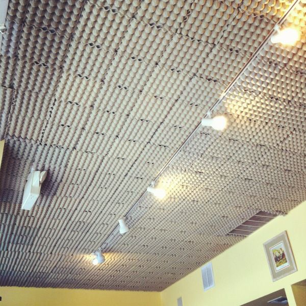 Egg Carton Ceiling At Square One Dining In La Www