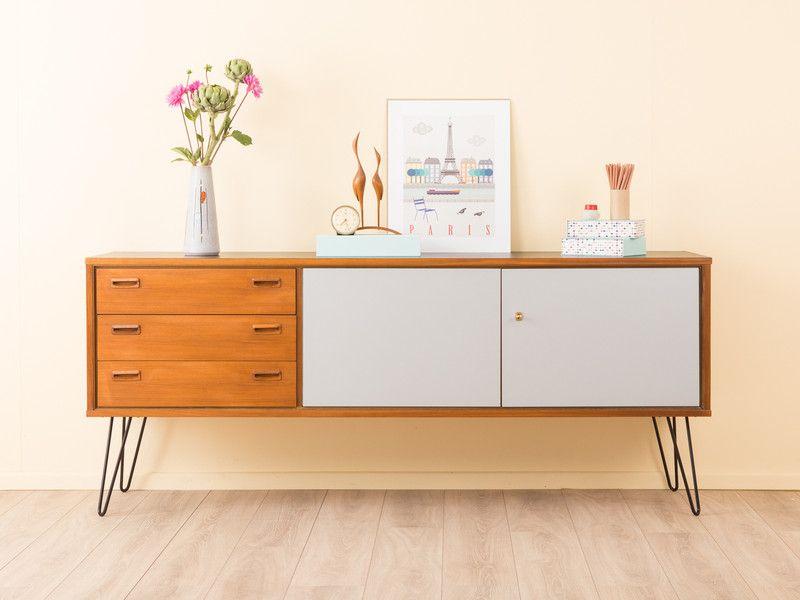 wundervolles sideboard 50er 60er kommode vintage von mid. Black Bedroom Furniture Sets. Home Design Ideas