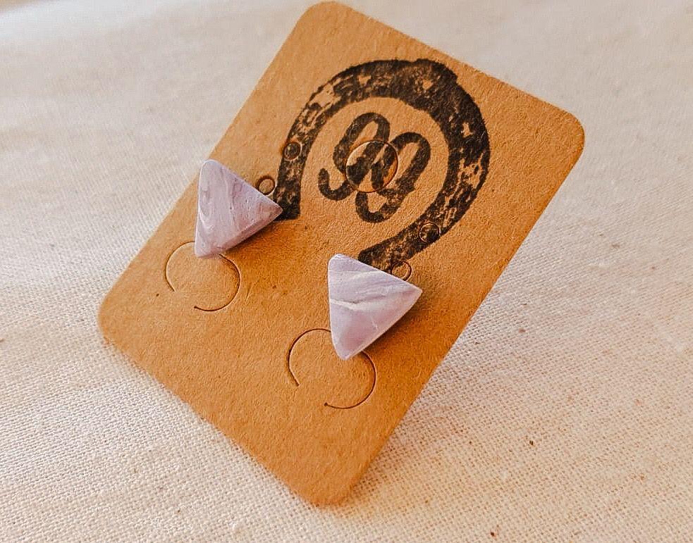 10mm Handmade Polymer Clay Stud Earrings