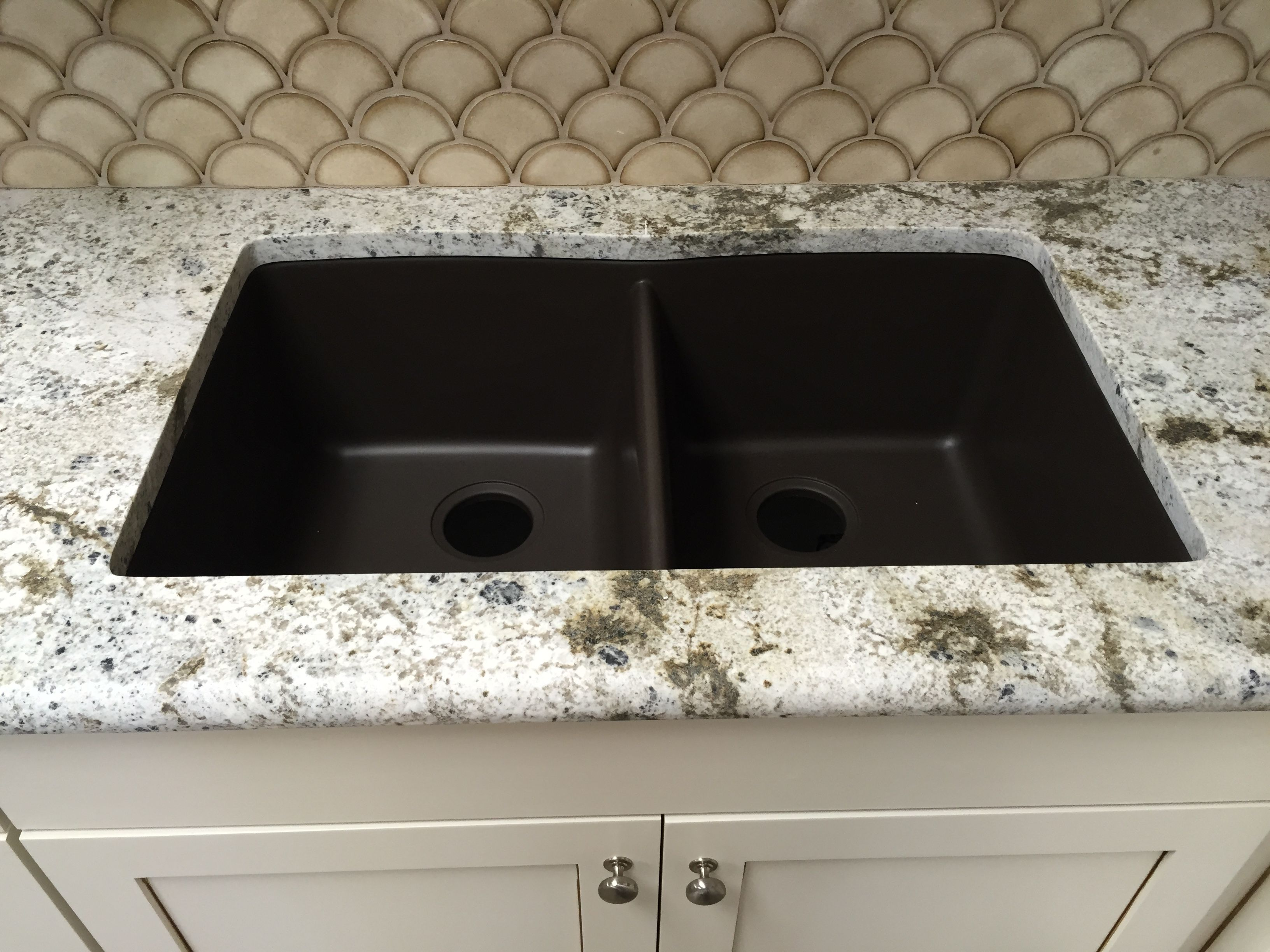 Mocha brown granite composite undermount kitchen sink | Granite ...