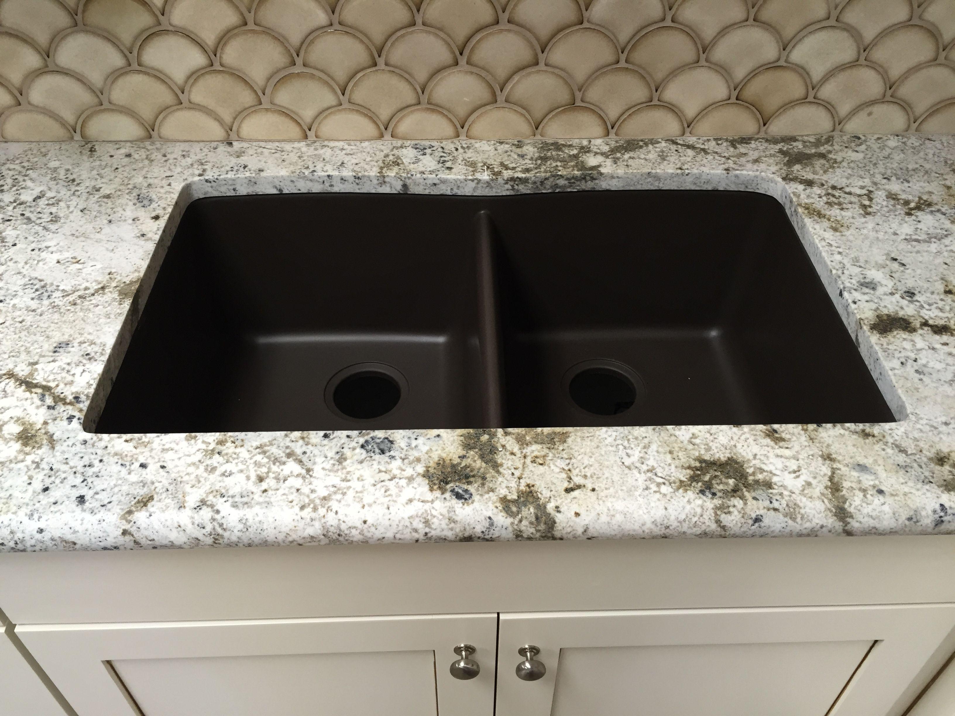 Mocha Brown Granite Composite Undermount Kitchen Sink Undermount