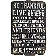 Be Thankful Live Simply Be Kind Do Your Best Use
