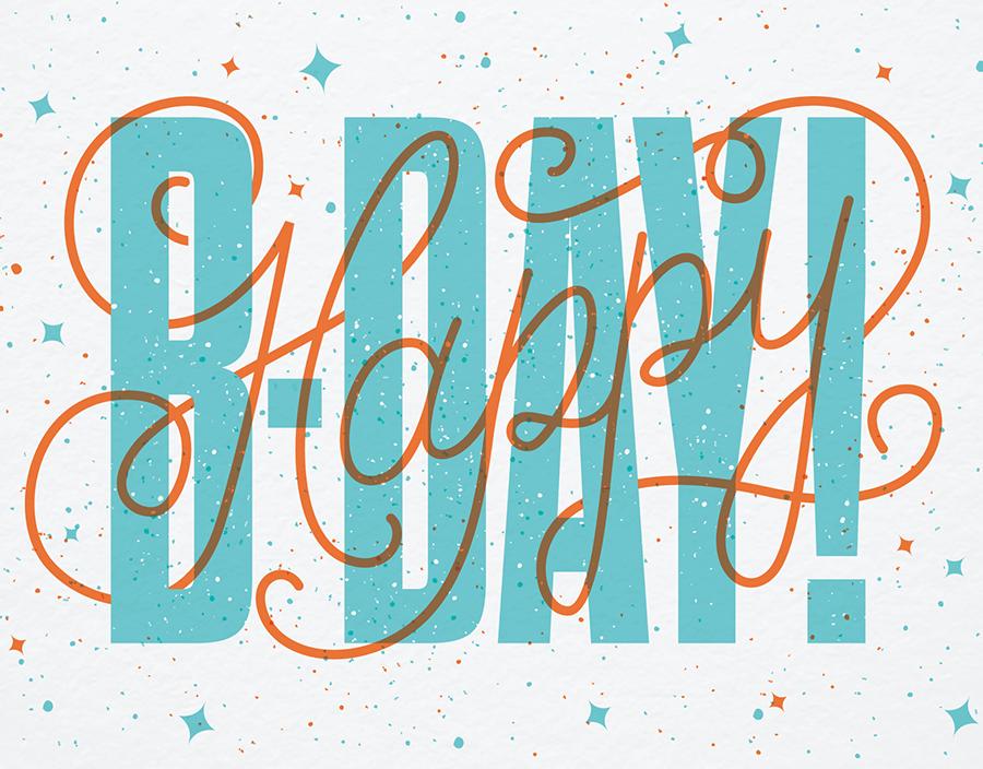 Birthday Script Overlay Postable Happy birthday