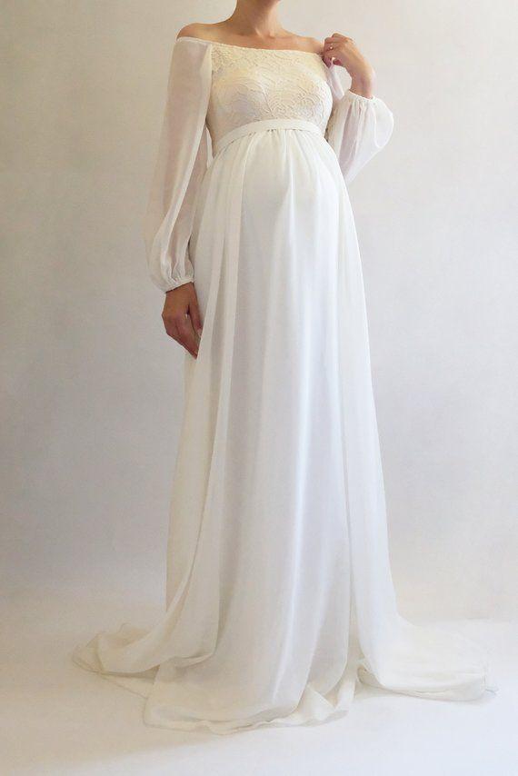 a516dad9f7a ANNABELLE Bohemian Wedding Maternity Gown