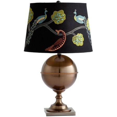 Great shade on this Vanderbilt Lamp via Joss and Main