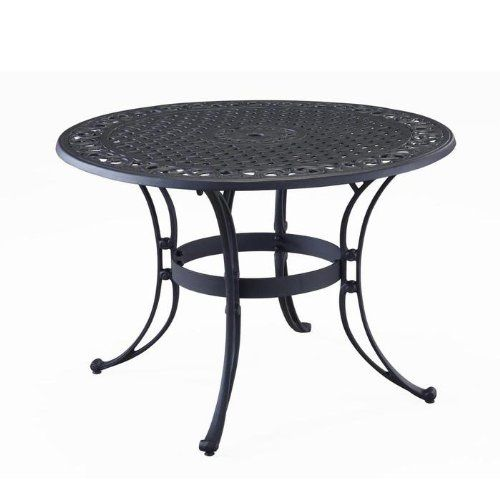 Home Style 5554 32 Biscayne Round Outdoor Dining Table Black