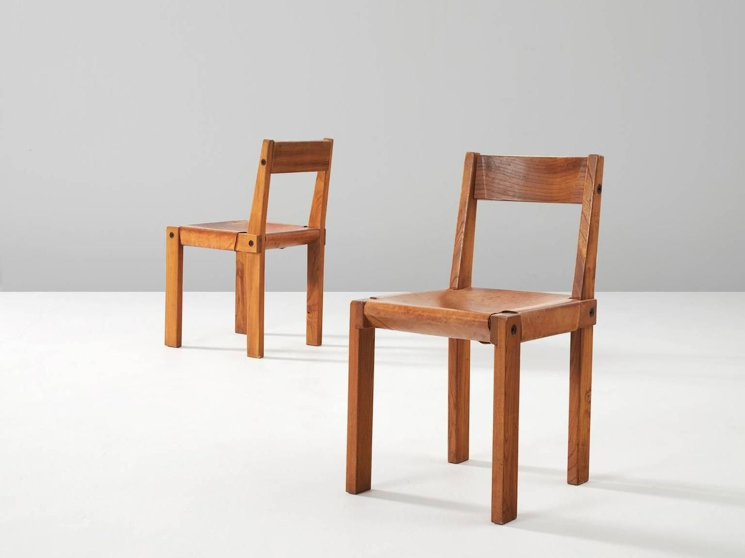 Pierre Chapo Set of Eight S24 Chairs 4