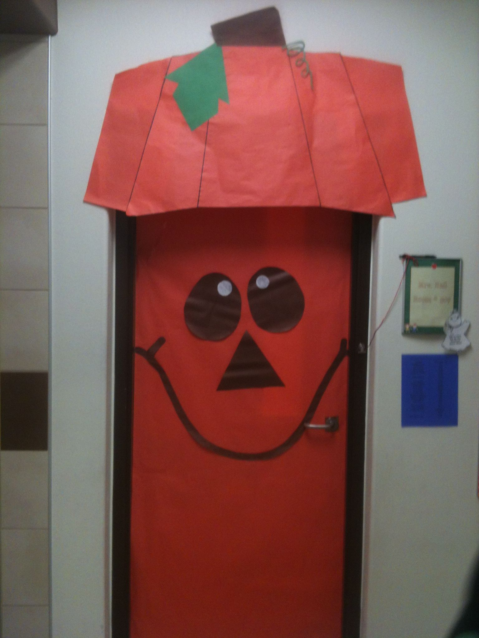 Fall/Halloween door decoration I did at the school I work at :)