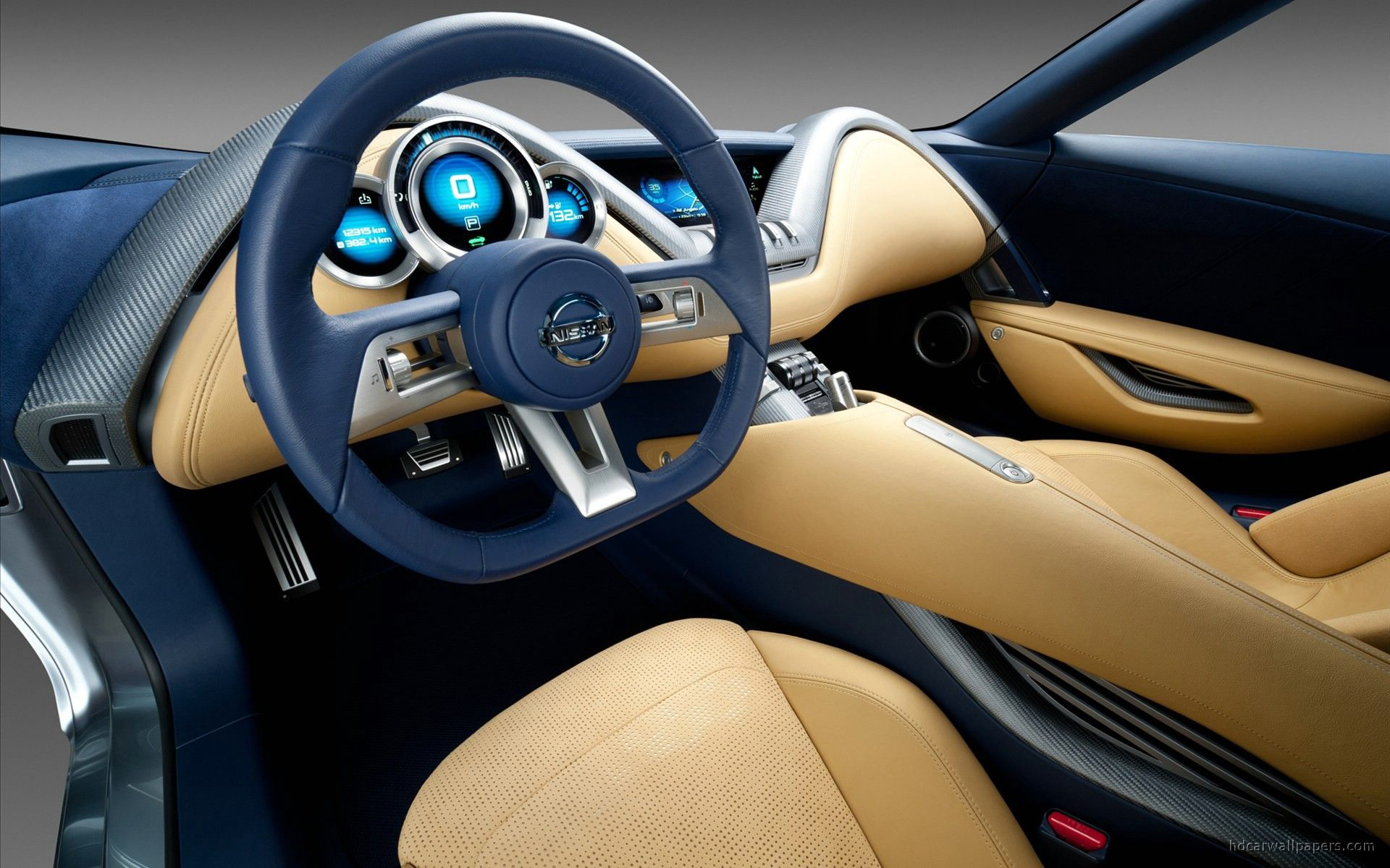 2011 nissan electric sports concept car interior for Car interior decoration