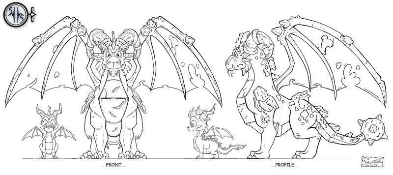 Terrador S Official Height Concept Art Dragon Coloring Page