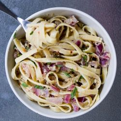 Fettucini with Spicy Anchovy Sauce