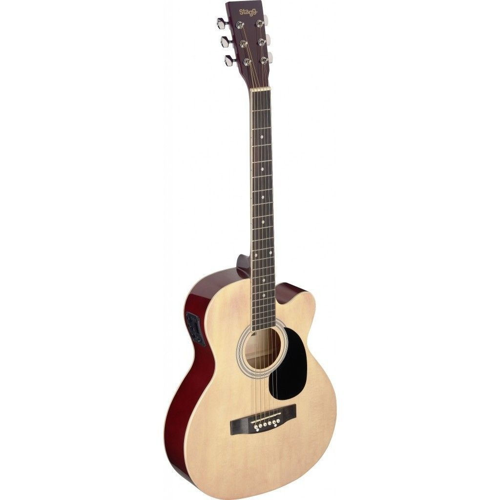 Stagg SA20ACE NAT Auditorium Cutaway Acoustic/Electric Guitar