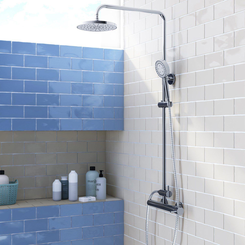 Faience Mur Bleu Brillant L 7 5 X L 15 Cm Bakerstreet Avec