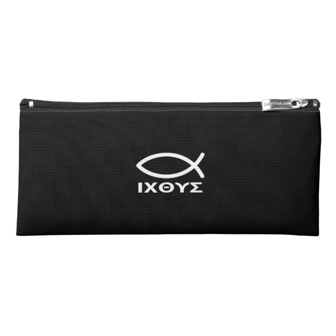 Jesus Fish Ichtus And Pen Case Pencil Custom Office Supplies Business Logo Branding