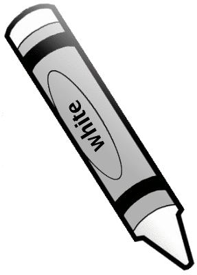 Crayon White 1 Clip Art Black Crayon Education Supplies