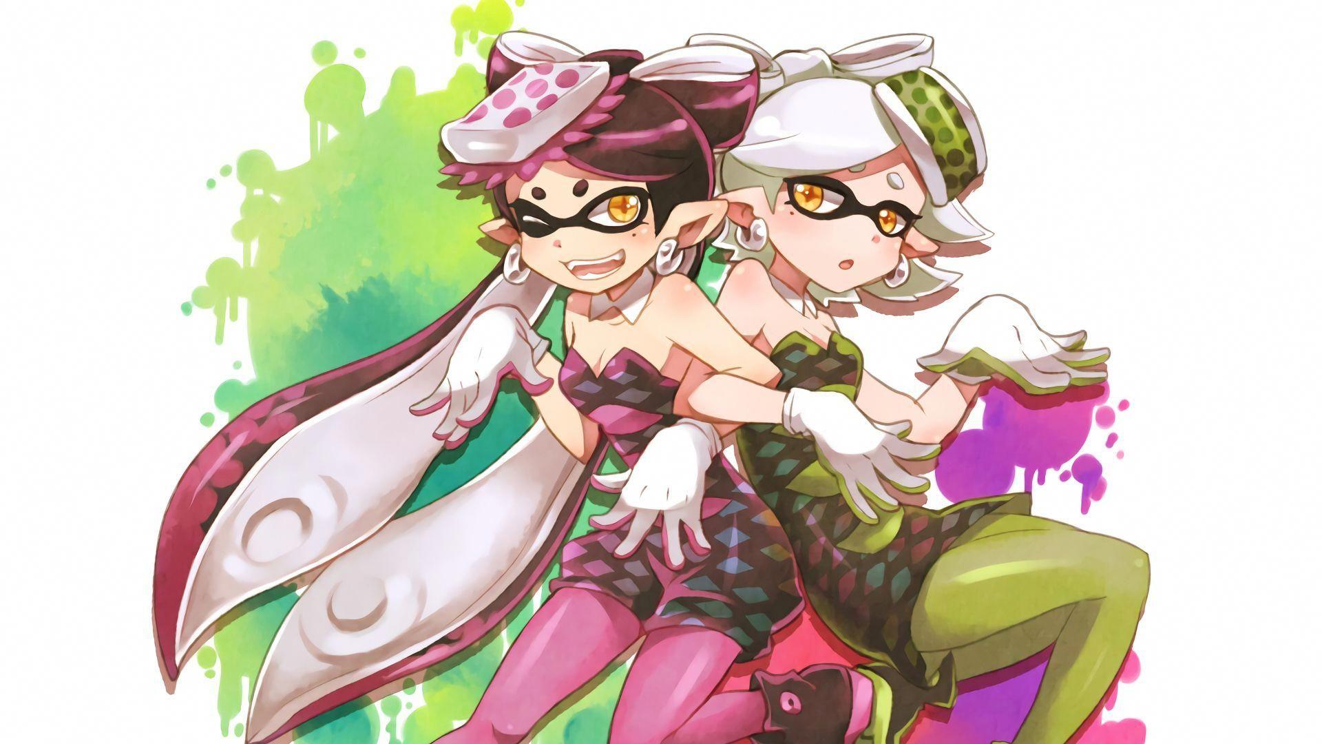 Nintendo Splatoon Squid Sisters Callie Marie Wallpaper Art
