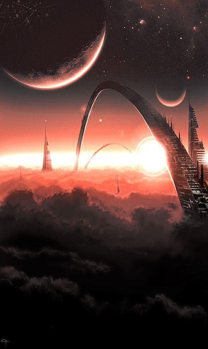 Otherworld by Gary Tonge #Art #Sci-fi #fantasy