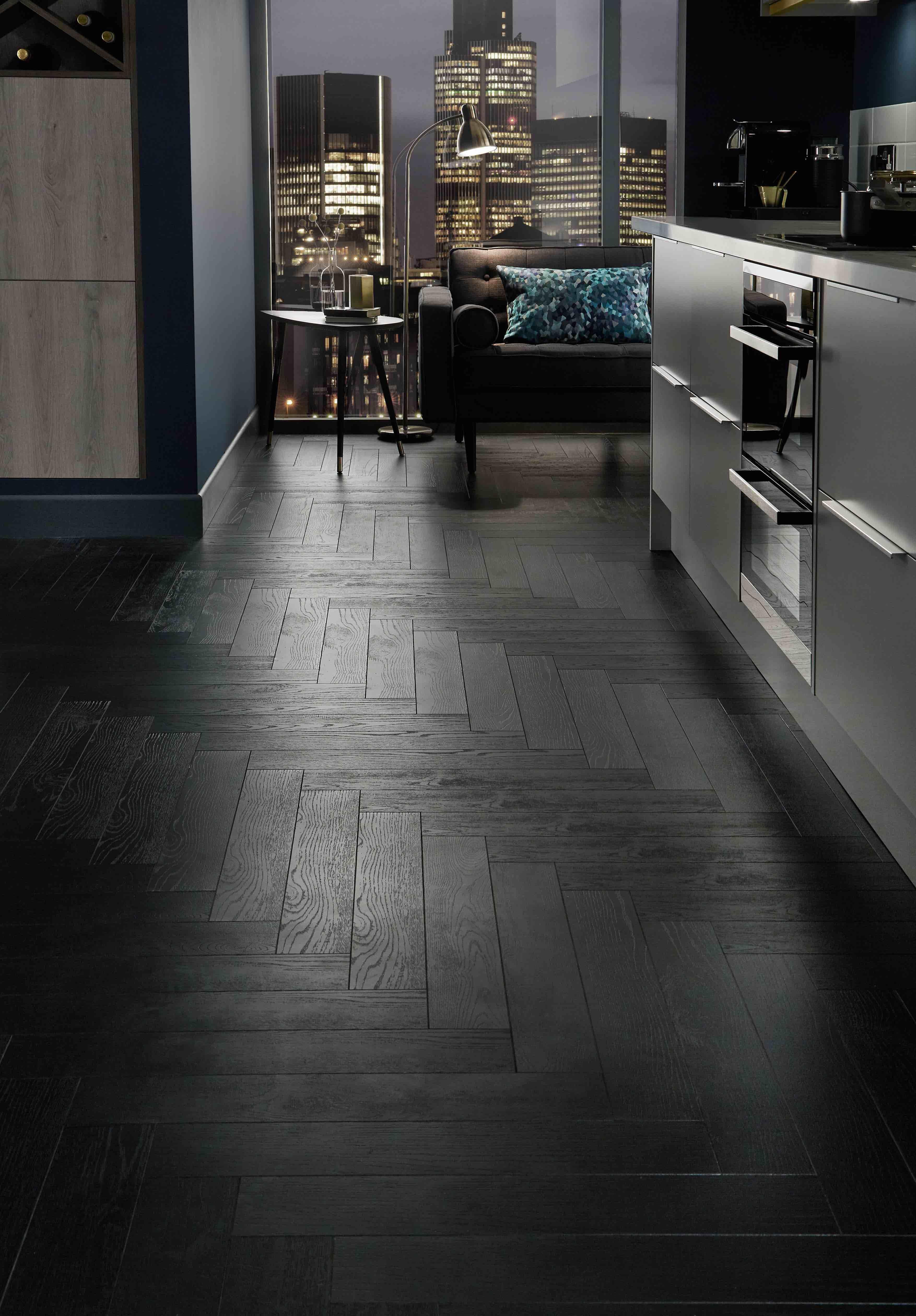 Dark Herringbone Wood Floor Wikizie