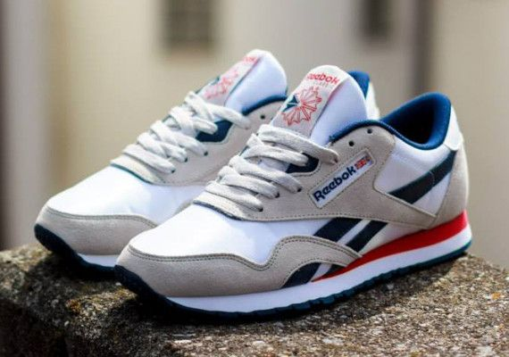 47ad43003a8316 Reebok Classic Nylon SP - White - Steel - Navy - Red - SneakerNews.com