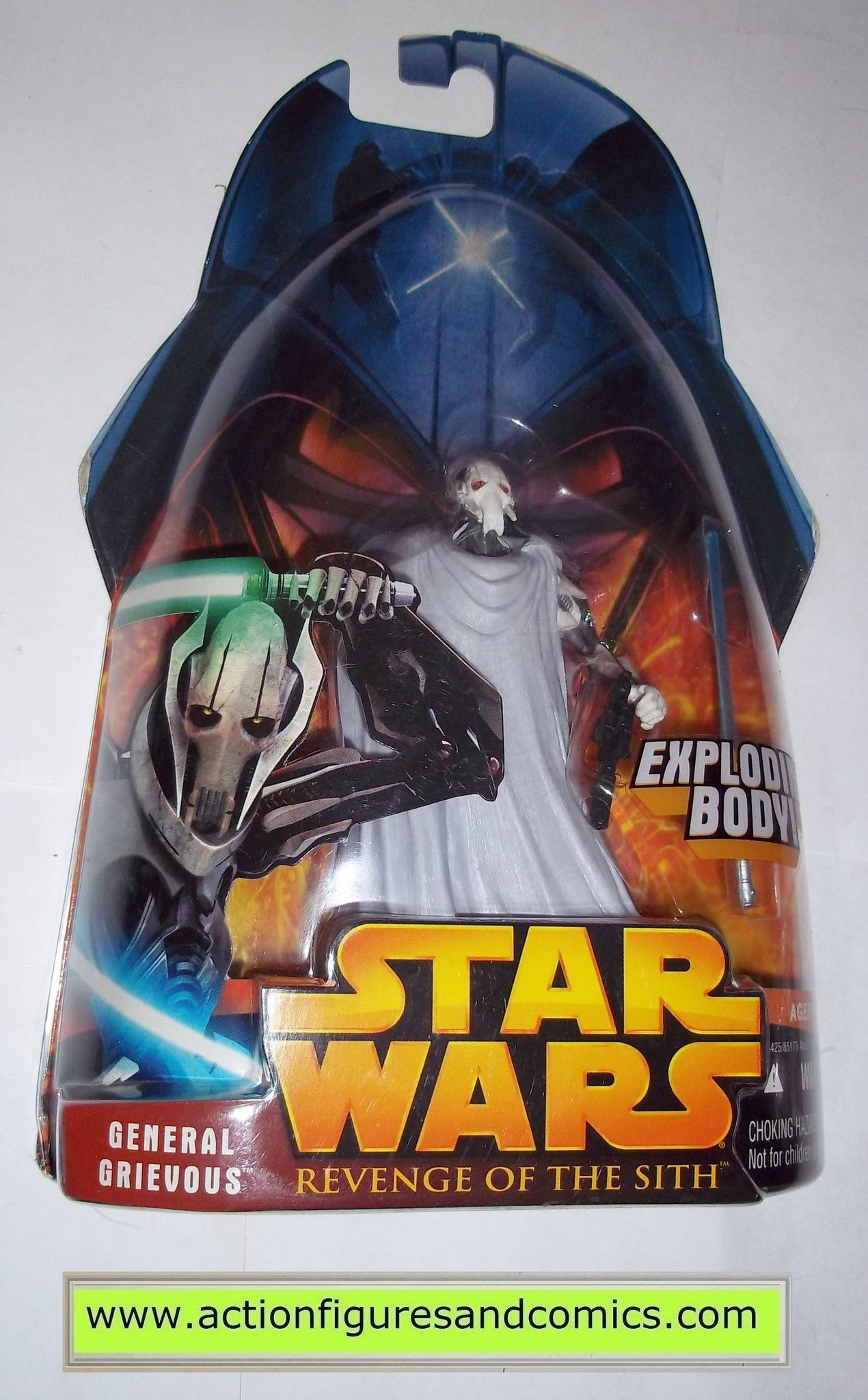 Star Wars Action Figures General Grievous 36 2005 Revenge Of The Sith Hasbro Toys Moc Mip Mib Star Wars Action Figures Star Wars Toys Star Wars Figures