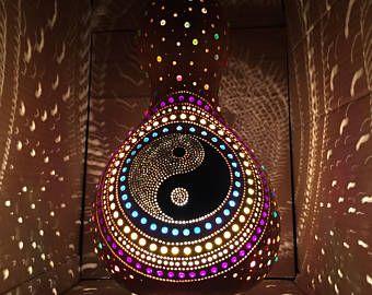 Yin Yang Oriental Art Lamp Turkish Gourd