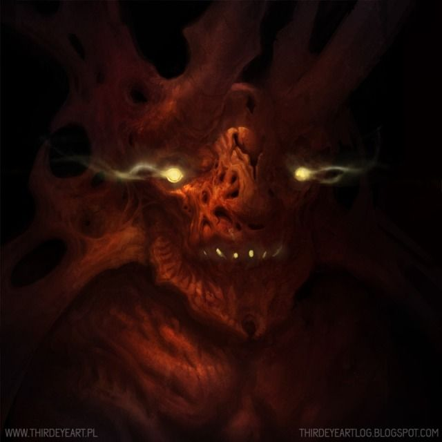 Devilish Picture (2d, horror, concept art, devil, monster, fantasy