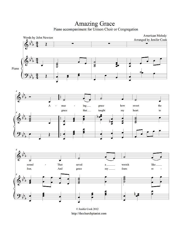 Amazing Grace Christmas Piano Sheet Music Sheet Music Amazing