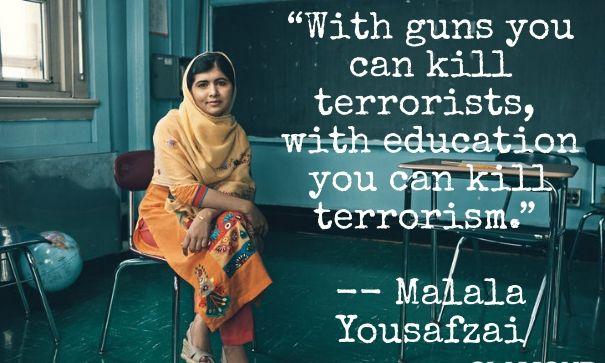 Výsledek obrázku pro malala terrorism