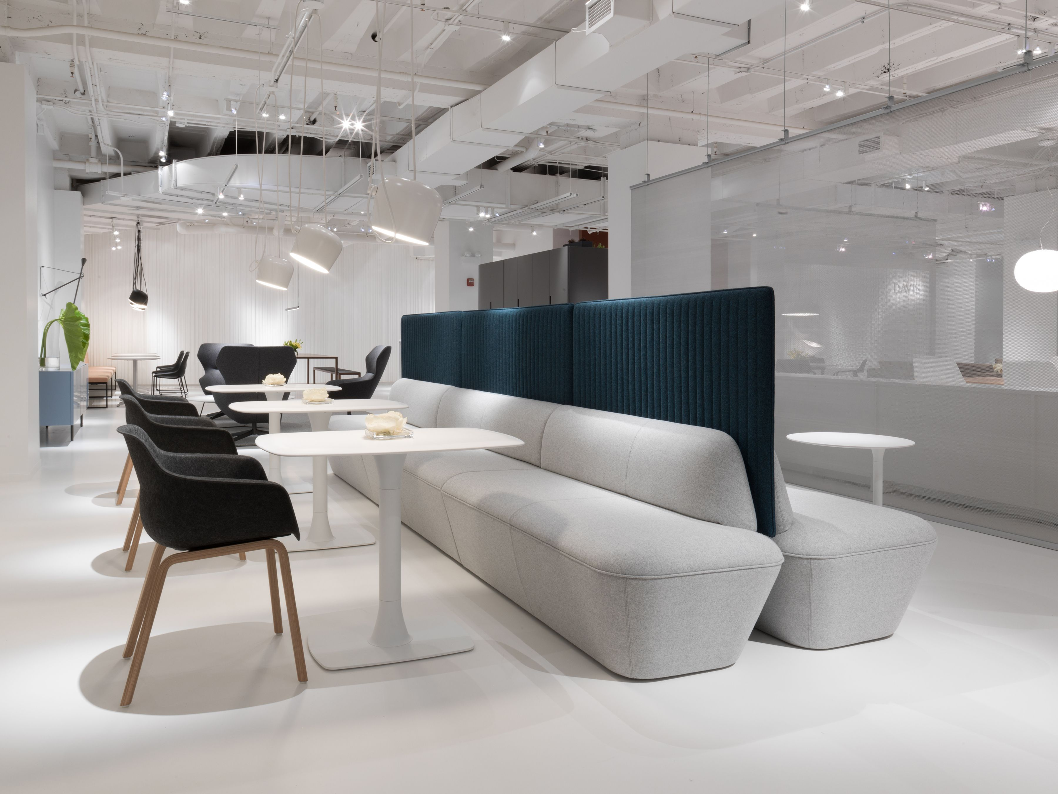 Q6 Lounge and Tables with Codi Chairs from Davis Furniture - #NeoCon2017