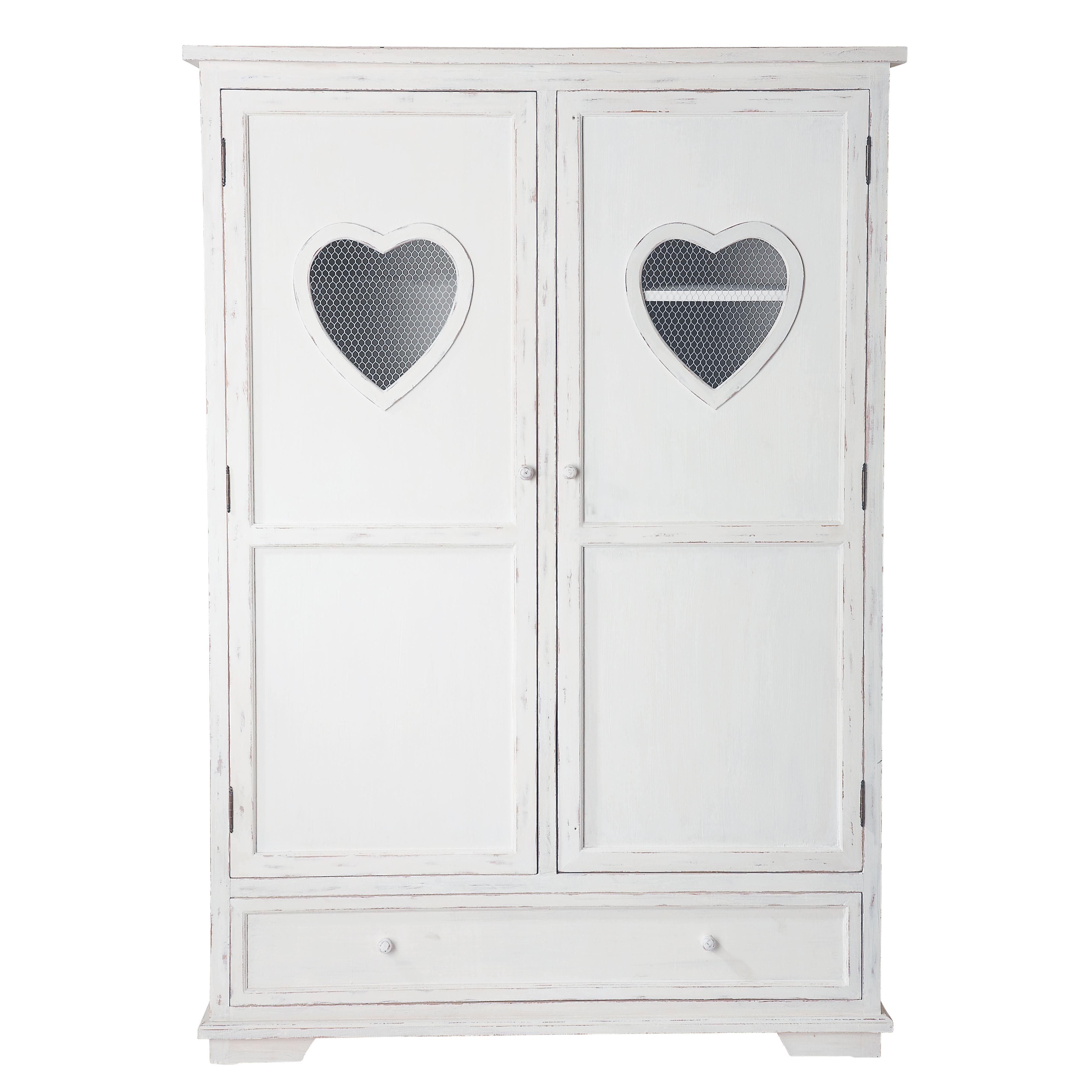 Schrank aus Holz, B130 , weiß Valentine | Bedrooms and Room