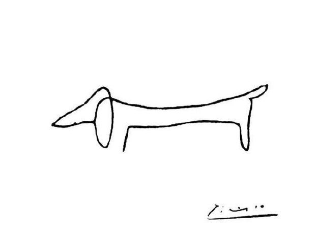 Famous Line Art : Famous line drawing art artists love dachshund