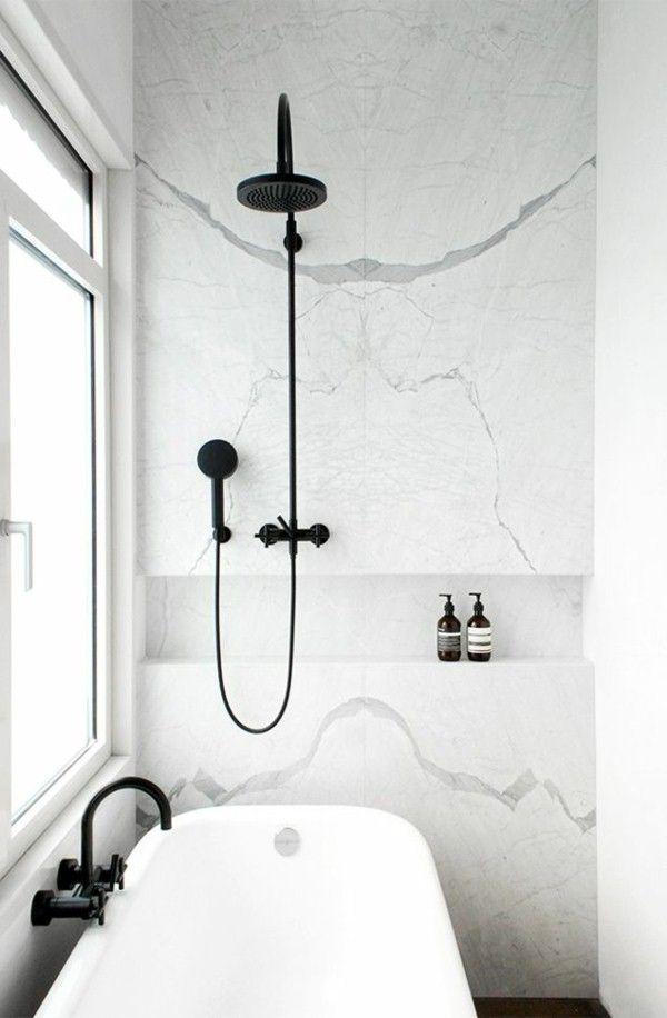 Douche rénover Noir Robinet salle de bains conçue … | Pinteres…