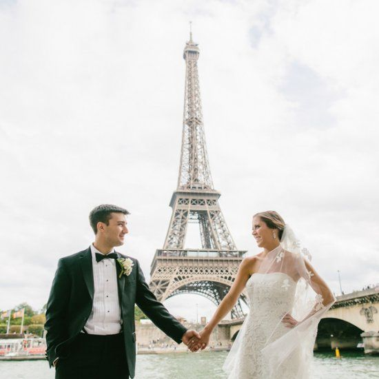 Intimate and elegant wedding at the stunning Four Seasons George V in Paris. Photographer: Brant Smith