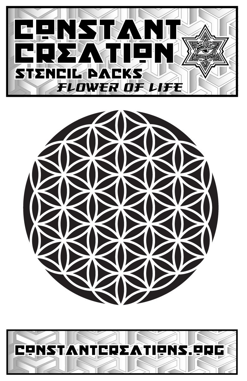 Geometric Flower Stencil Embossing Stone Decor Cardmaking Ink Airbrush Paint #10