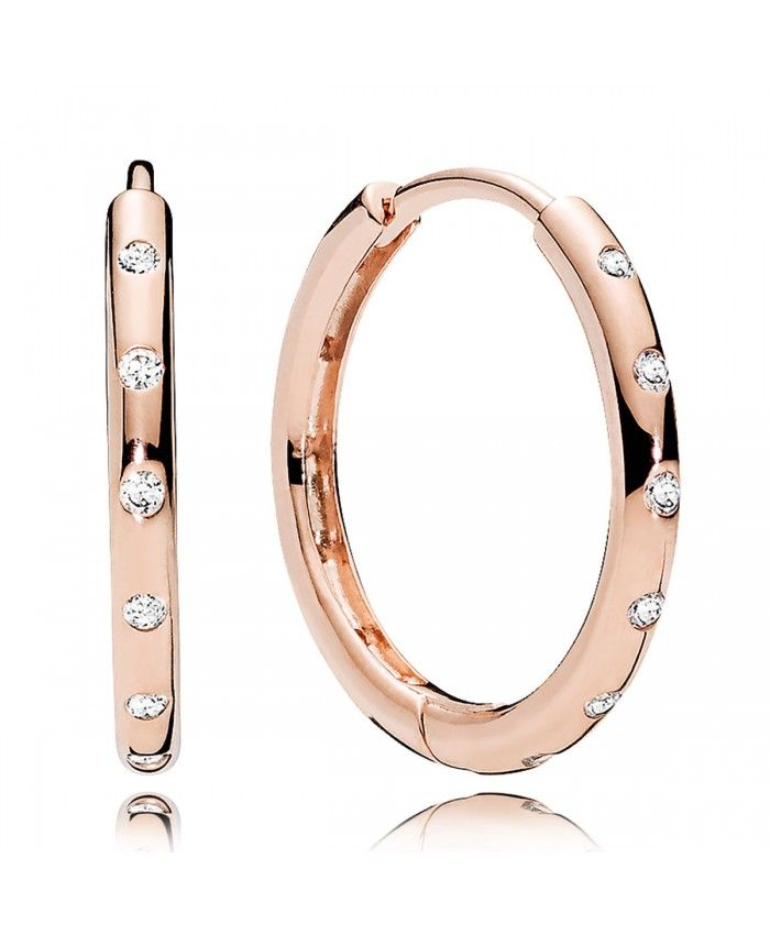 8a2d9cae7 Rose Gold Cz Droplets Hoop Earrings | pandora rose gold in 2019 ...