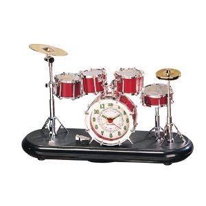 Drum Set Tabletop Alarm Clock. #music #clock #drums http://www.pinterest.com/TheHitman14/music-paraphernalia/
