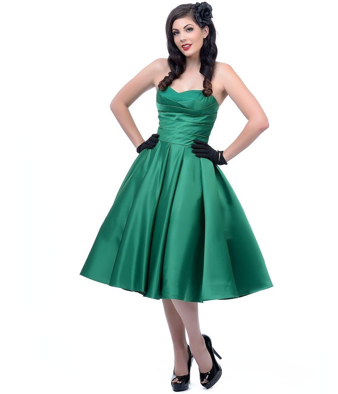 http://www.ebay.com/itm/rare-Unique-Vintage-Emerald-Green-strapless ...