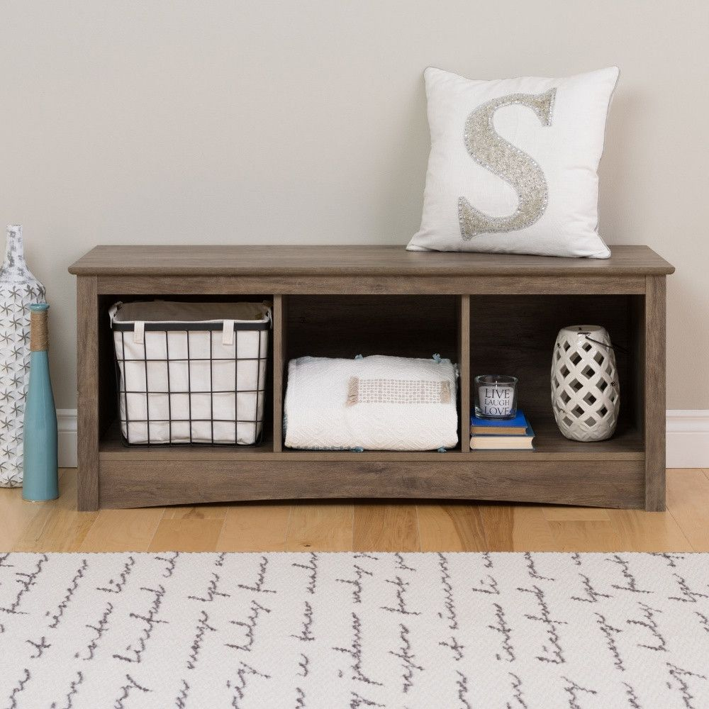 Prepac Cubby Bench Drifted Gray Cubby Storage Bench Cube Storage Bench Cubby Bench